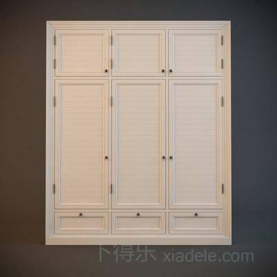 衣物收纳柜, 九宫格衣柜, 美式衣柜, 衣柜, 立式衣柜, 一字衣柜, 美式