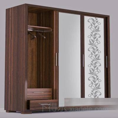 衣物收纳柜, 衣柜, 一字衣柜, 日式简约, 简约衣柜, 日式衣柜, 双推门衣柜
