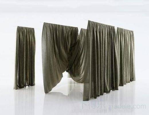 现代窗帘, 布艺窗帘, 帆布, 纯色, 窗帘, 现代简约