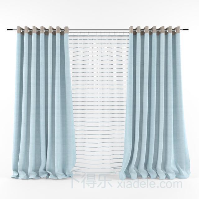 现代简约双层纯色窗帘1