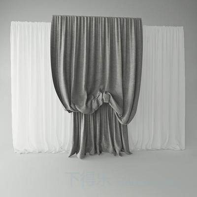现代窗帘, 米黄色, 百叶窗帘, 窗帘