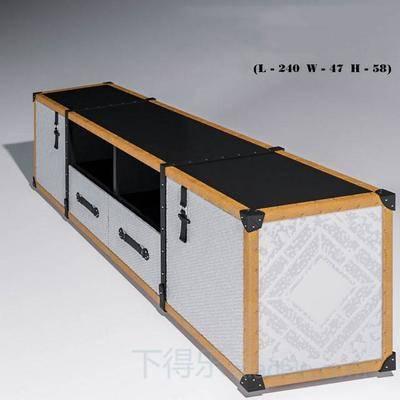 复古, 电视柜, 创意, 现代, 简约, 原木, 柜子