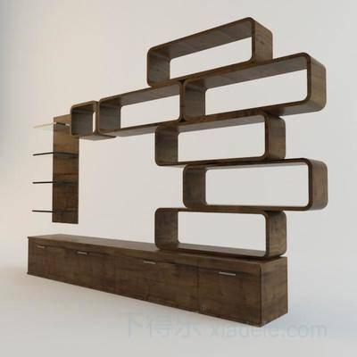 电视柜, 创意, 现代, 简约, 原木, 柜子, 博古架, 组合柜