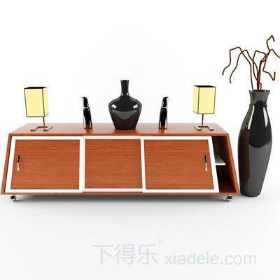 地柜式电视柜, 现代, 创意, 现代电视柜, 电视柜, 下得乐3888套模型合辑