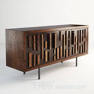电视柜, 现代, 简约, 原木, 柜子
