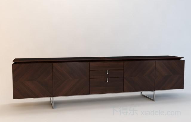 现代 美式 简约原木电视柜6