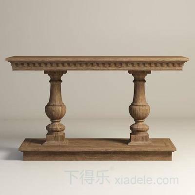 木质, 雕花, 美式, 端景台, 古典