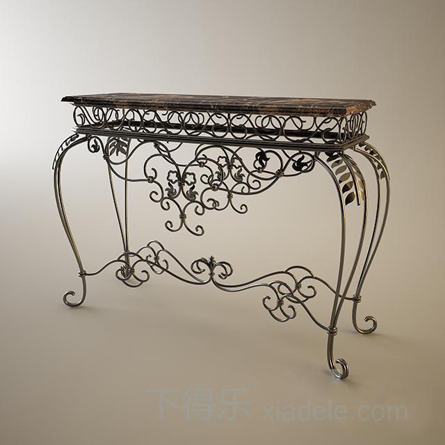 欧式花纹金属玄柜