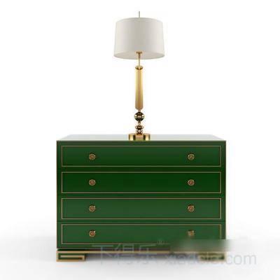 古典床头柜, 床头柜, 美式床头柜, 柜子