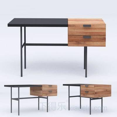 现代简约, 办公桌, 简约办公桌, 现代办公桌, 原木办公桌