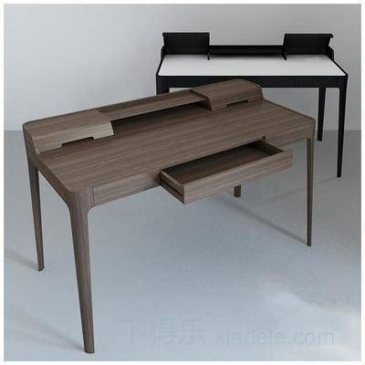现代简约, 现代办公桌, 简约办公桌, 办公桌, 原木办公桌, 桌子