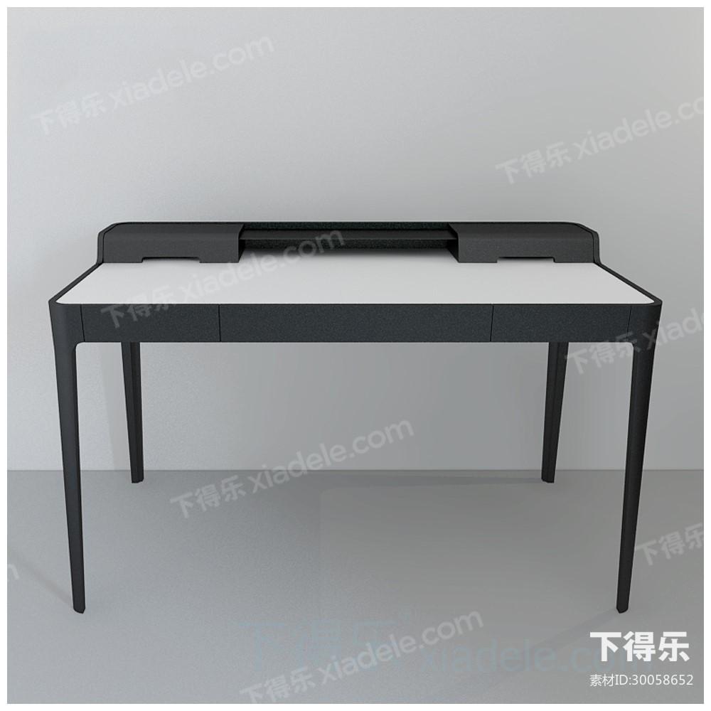 现代工艺都市简约原木办公桌10
