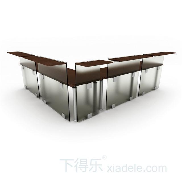 现代工艺圆弧型原木桌脚办公桌