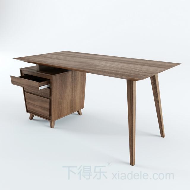 现代工艺都市简约原木办公桌3