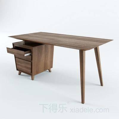 现代简约, 现代办公桌, 办公桌, 简约办公桌, 实木办公桌