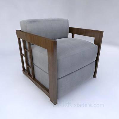 新中式, 单人沙发, 古典, 太师椅, 椅子