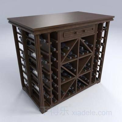 博物柜, 收藏柜, 酒品展柜, 红酒柜, 酒柜, 美式简约, 正方形酒柜, 简约酒柜