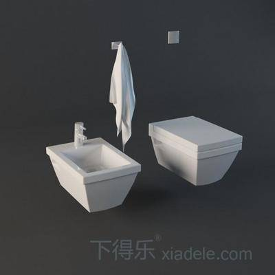 马桶, 纯色, 陶瓷, 卫浴, 卫生间, 方形, 白色