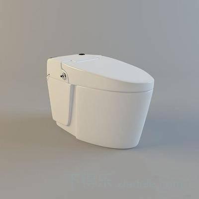 馬桶, 純色, 陶瓷, 衛浴, 衛生間, 方形, 白色