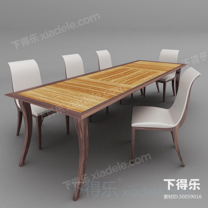 简约欧式实木长餐桌椅子