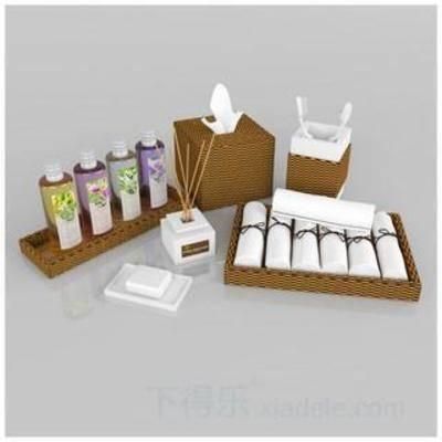 洗发水, 香皂, 沐浴露, 洗涤用品, 模型