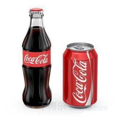 瓶装饮料, 罐装饮料, 可乐, 饮料, 模型, 可口可乐