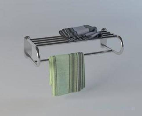 浴室置物架, 毛巾, 毛巾架, 洗涤用品, 模型