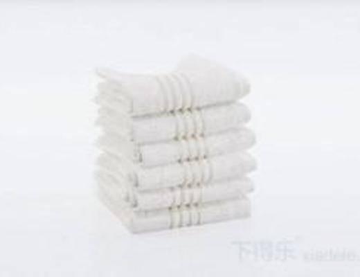 纯色毛巾, 毛巾, 毛巾架, 洗涤用品, 模型