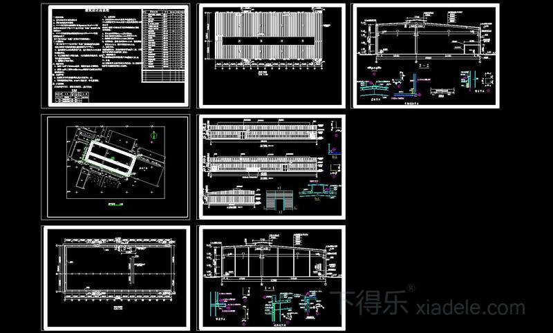某钢结构厂房建施图