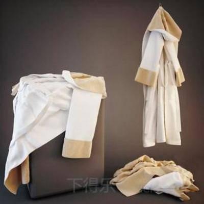 玻璃制品, 纯色毛巾, 毛巾, 毛巾架, 洗涤用品, 置物架, 模型