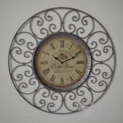 模型, 装饰品, loft风格, 壁钟, 金属材质壁钟, 金属花纹, 时钟