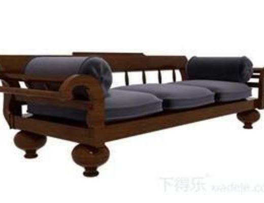 红木沙发, 雕花沙发, 纯色沙发, 多人沙发, 原木沙发, 沙发垫, 皮革沙发, 模型, 沙发