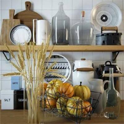 模型, 美式风格, 装饰品, 食物, 器皿, 厨房用具, 厨具工艺品