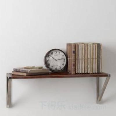 模型, 装饰品, loft风格, 壁钟, 金属材质壁钟, 时钟, 书籍装饰