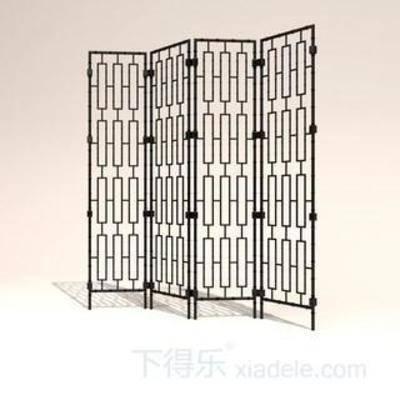 东南亚风格, 模型, 屏风, 隔断, 家具