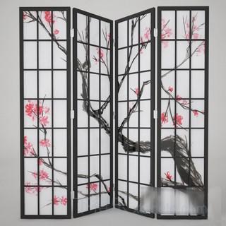 中式梅花图案屏风