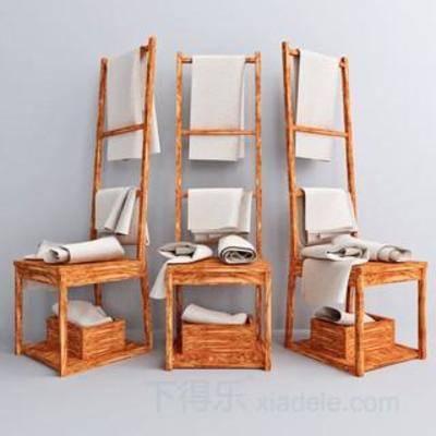 放置架子, 沐浴, 木质材质, 毛巾架