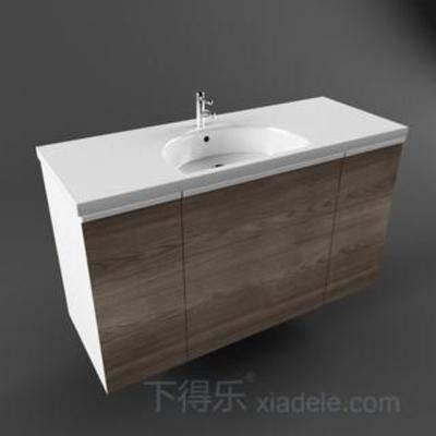 木纹, 盥洗台, 水龙头, 洗手池, 陶瓷, 方形, 白色, 圆形