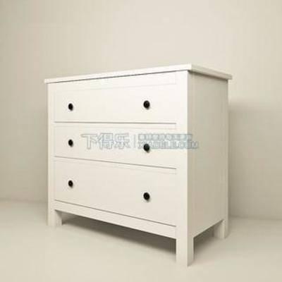柜, 家具, 田园, 床头柜, 简约, 白色, 柜子, 美式风格