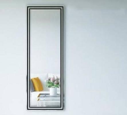 模型, 简约, 现代, 镜子, 悬挂, 全身镜