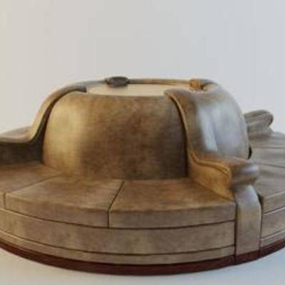 现代都市风格, 棉质沙发, 布艺沙发, 纯色沙发, 棉麻沙发, 模型, 沙发