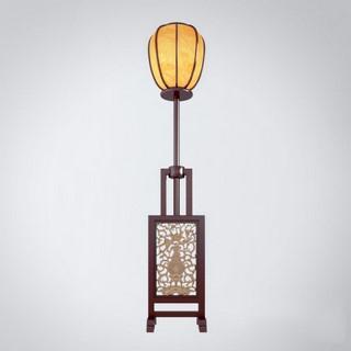 中式实木古典雕刻落地灯