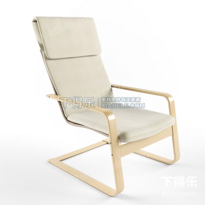 北欧简约曲木休闲时尚扶手休闲椅,椅子