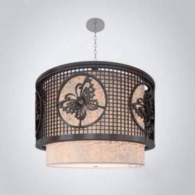 蝴蝶, 雕花, 镂空, 装饰, 简约, 模型, 照明, 中式, 灯饰, 吊灯