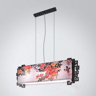 中式长方形手绘 吊灯 灯饰