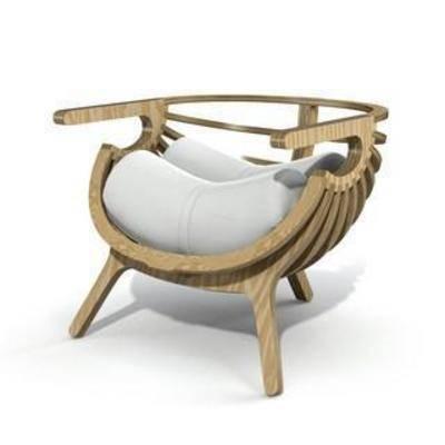现代椅子, 现代, 简约, 原木, 模型, 椅子