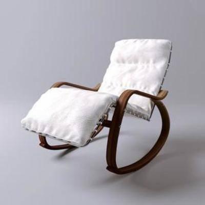 现代椅子, 现代, 简约, 摇椅, 模型, 椅子