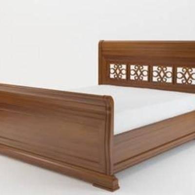 实木, 床具, 家具, 镂空, 东南亚, 原木, 模型