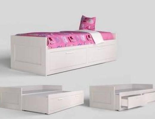 多功能, 收納, 實木, 床具, 兒童, 家具, 模型, 現代床