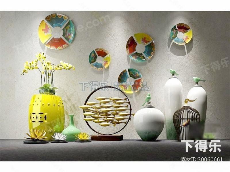 新中式陶瓷工艺品摆件,陈列品